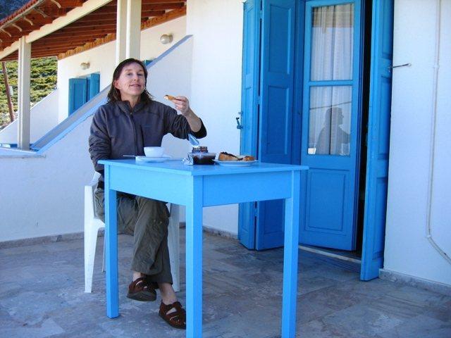 Breakfast at the studio on Kalymnos