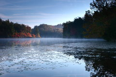 Rock Climbing Photo: Misty sunrise in the Southern region of the Red Ri...
