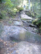 Rock Climbing Photo: The trail is just a little steep
