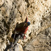 Exiting the hueco on Supafly. photo by Anthony Carco