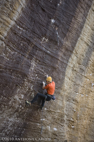 Rock Climbing Photo: Mark on Black Gold. photo by Anthony Carco