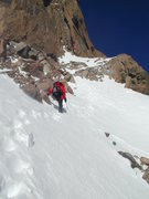 Rock Climbing Photo: Traverse on Broadway from Lamb's Slide in Winter c...