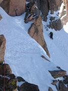 Rock Climbing Photo: Broadway traverse in Winter conditions.