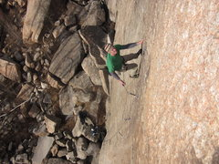 "Rock Climbing Photo: Clipping before the crux of ""The Rodeo"" ..."