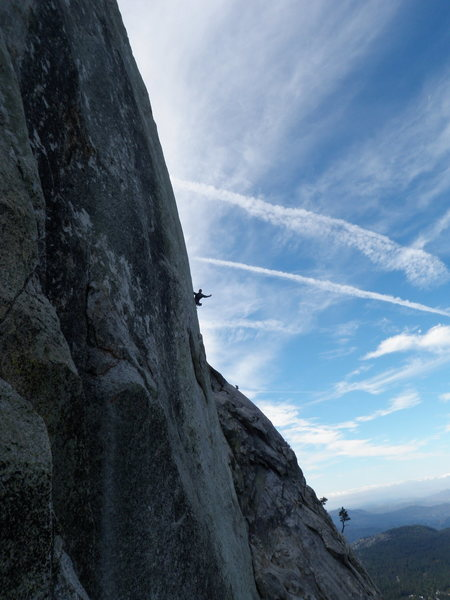 Rock Climbing Photo: Looking at Adam and Mike on The Vampire. Photo tak...