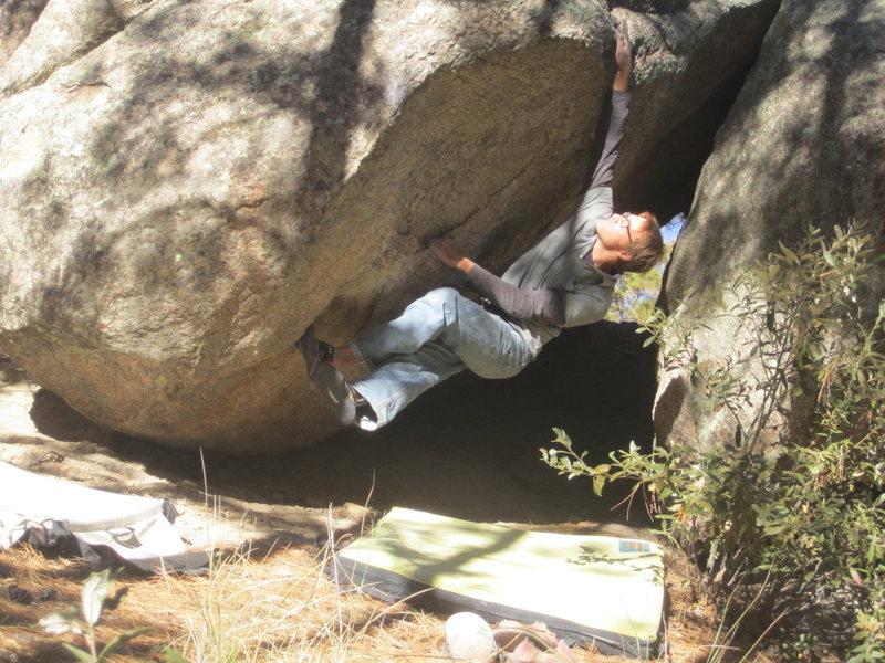 Rock Climbing Photo: Big opening move