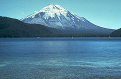 Rock Climbing Photo: Mount St. Helens and Spirit Lake prior to the May ...