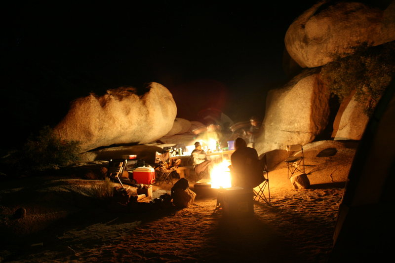 Rock Climbing Photo: Around the campfire.