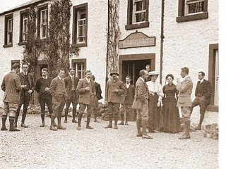 First ever Fell and Rock Climbing Club meet....... this took place outside the Wasdale Hotel 1907