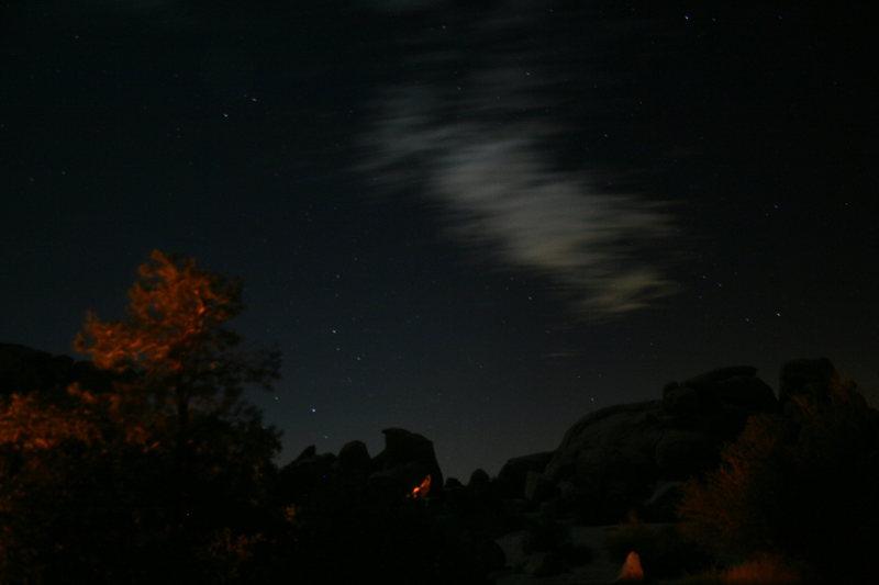 Rock Climbing Photo: Night clouds.