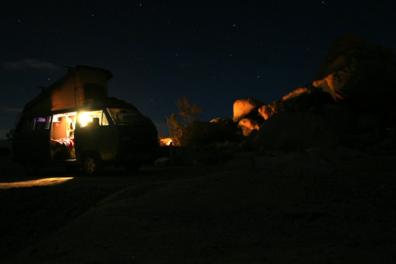 Ryan campground and my abode.