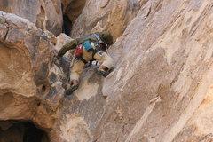 Rock Climbing Photo: Albert on the Eye on Cyclops Rock.