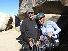 Rock Climbing Photo: Agina with her big new rack.