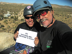 Rock Climbing Photo: Agina and I after our tribute climb to Dennis Yate...