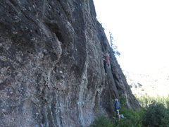 Rock Climbing Photo: Jay pulling on cobbles at 11,500'