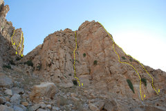 """Rock Climbing Photo: This is a topo for """"Sentinel Peak"""" (Left..."""