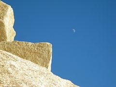 Rock Climbing Photo: Rock and Moon