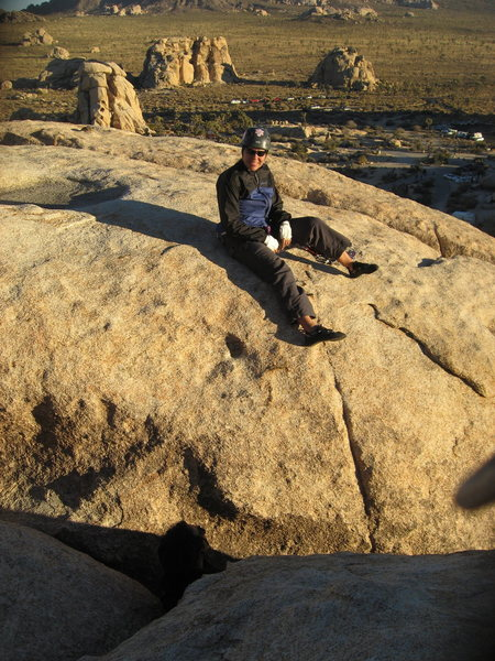 Rock Climbing Photo: Agina on top of the Blob after a good lead on Begi...