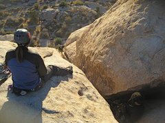 Rock Climbing Photo: Agina watching Albert coming up Beginners One with...