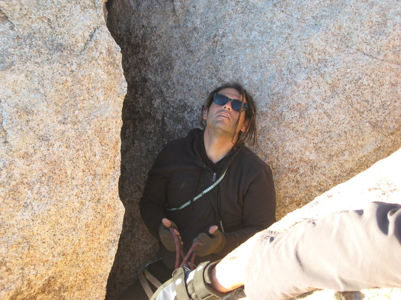 Rock Climbing Photo: RastaRaj on belay. Don't worry Al he's got you.