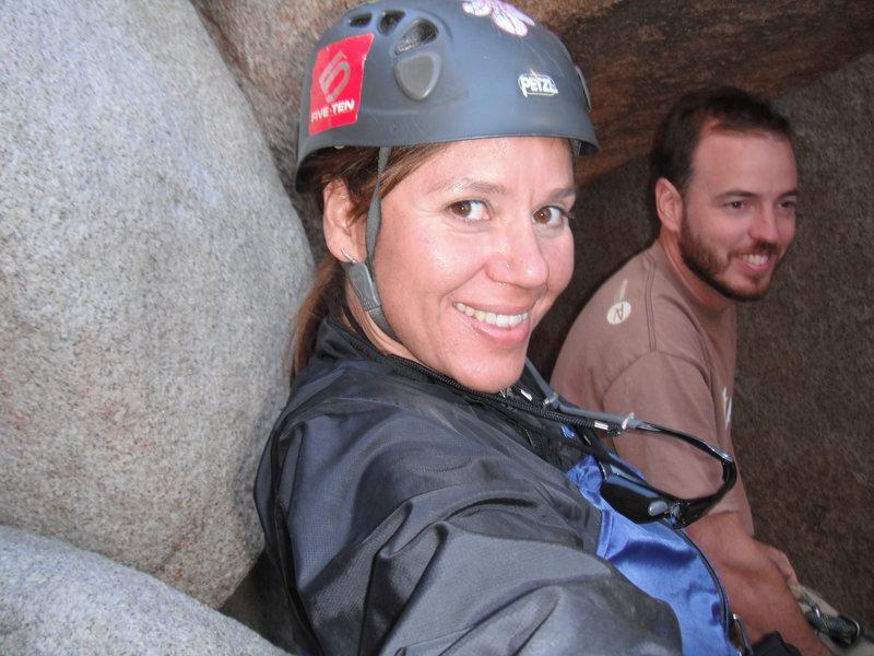 Rock Climbing Photo: Agina and Nathan.
