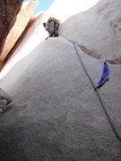 Rock Climbing Photo: Me leading Buissonier.