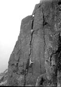 Rock Climbing Photo: The First Ascent,and in nailed boots. April 1897. ...