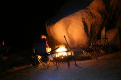 Rock Climbing Photo: Nice warm campfire.