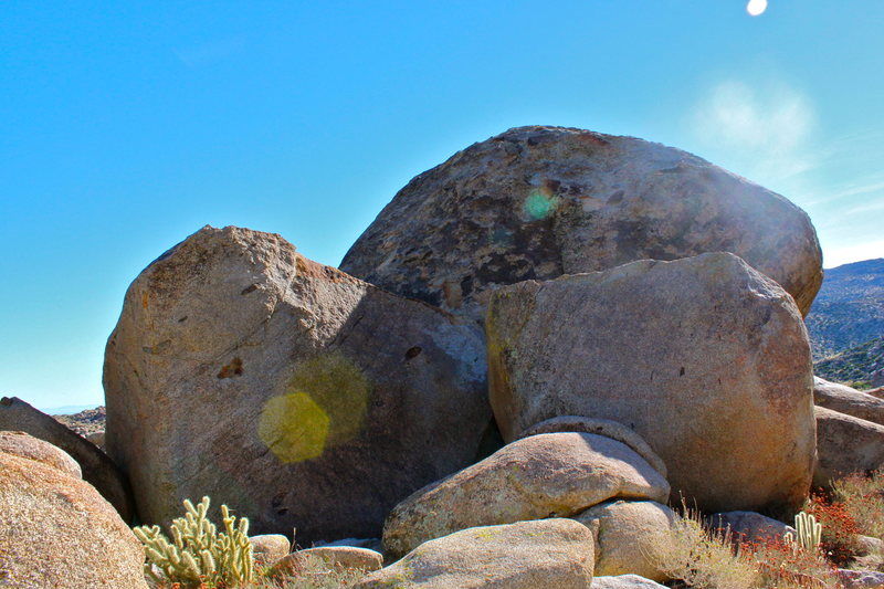 Tall boulders north cottenwood camp