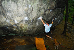 Rock Climbing Photo: iron cross, photo by andy librande of course
