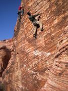 Rock Climbing Photo: Andrew on Pleasure Dog, unknown climber left on Ca...