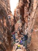 Rock Climbing Photo: A very full Black Corridor. Thanksgiving weekend 2...