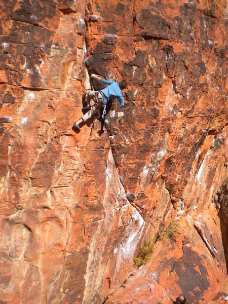 Rock Climbing Photo: Mase putting up the Yaak with ease