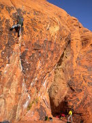 Rock Climbing Photo: This is Yaak Crack. Try a hand jam in the crack to...