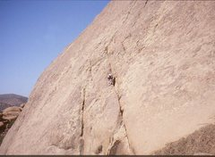 Rock Climbing Photo: Paul Ross on a first ascent of a granite slab ,not...