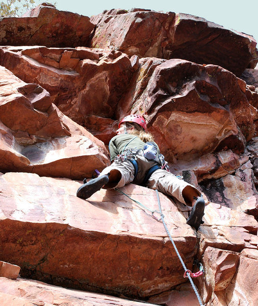 Rock Climbing Photo: Getting to the crux