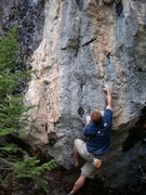 Rock Climbing Photo: An unclimbed pinch problem