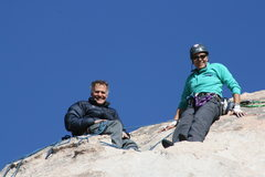 Rock Climbing Photo: Kevin and Agina at the top of Lazy Day.
