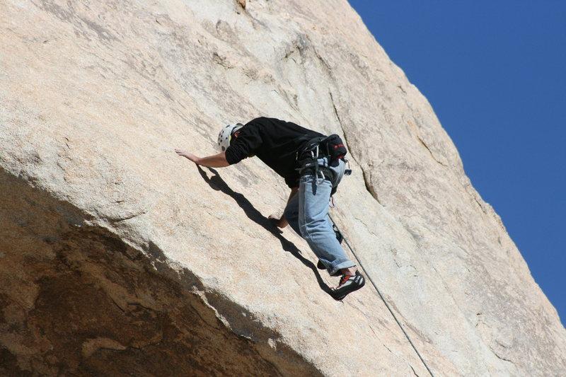 Rock Climbing Photo: Nathan leading Garden Angel.