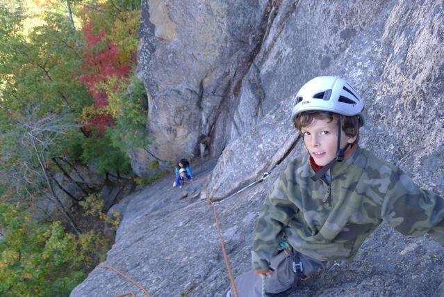 Aidan T on Refuse at Cathedral Ledge