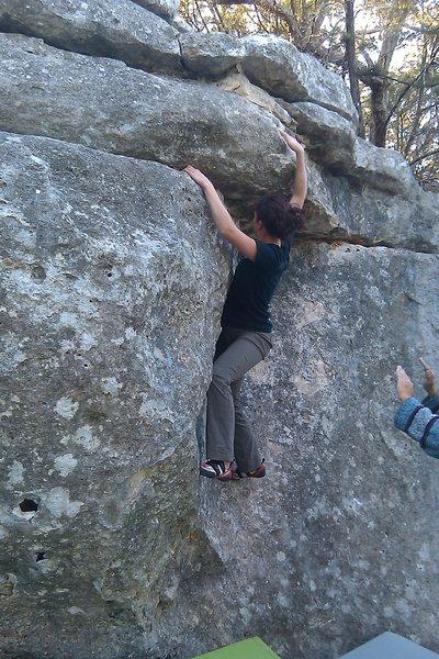 Rock Climbing Photo: Heidi on The Chin!