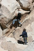 Rock Climbing Photo: Nathan Fitzhugh making a crucial and tough placeme...