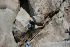 Rock Climbing Photo: Nathan Fitzhugh not all that easy getting to the f...