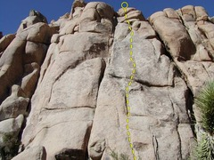 Rock Climbing Photo: All that Glitters is not Golden ascends the middle...