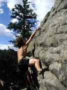 Rock Climbing Photo: random dynoing... Boulder Canyon