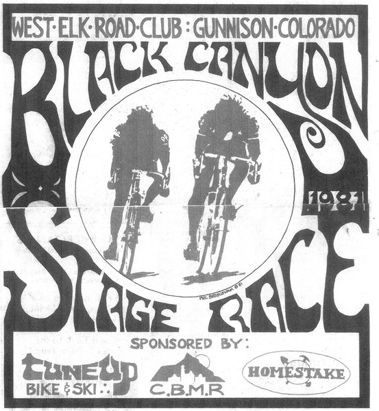 Poster design for the Black Canyon Stage Race in 1981.