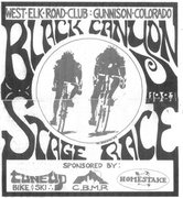 Rock Climbing Photo: Poster design for the Black Canyon Stage Race in 1...