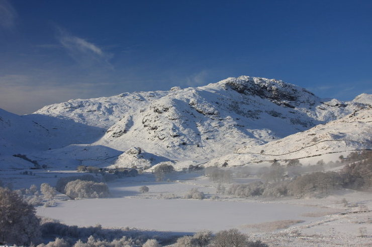 Little Langdale .December 10 2010.A rare early snow. Photo Denis Peare