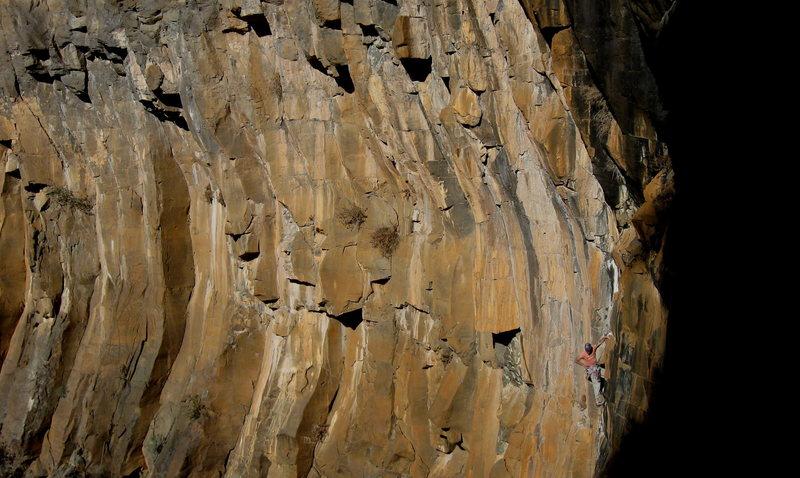 Rock Climbing Photo: David Bloom on Rough Around The Edges.