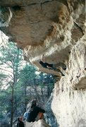 Rock Climbing Photo: Dave Graham starting the Money Shot - 1999.